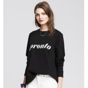 Banana Republic Black Pronto Sweatshirt NWOT